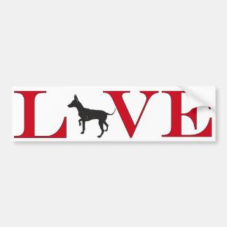 Chihuahua Lover Bumpersticker Bumper Sticker
