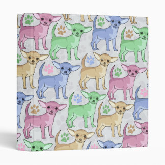 Chihuahua Lover Colorful Pattern Binder