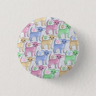 Chihuahua Lover Colorful Pattern Button
