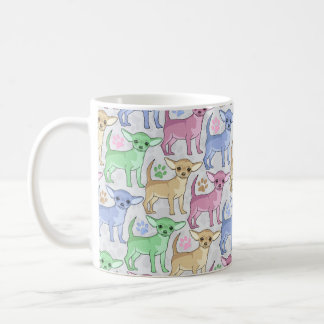 Chihuahua Lover Colorful Pattern Coffee Mug