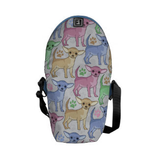 Chihuahua Lover Colorful Pattern Courier Bag