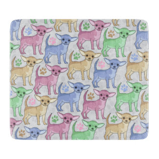 Chihuahua Lover Colorful Pattern Cutting Board
