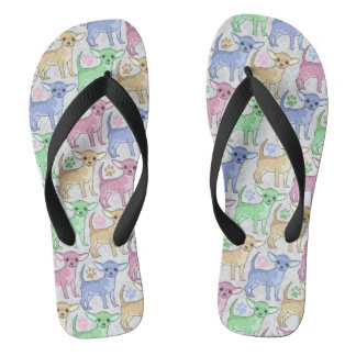Chihuahua Lover Colorful Pattern Flip Flops
