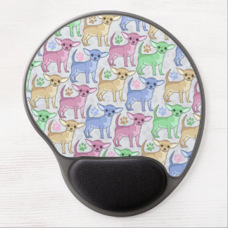 Chihuahua Lover Colorful Pattern Gel Mouse Pad