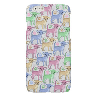 Chihuahua Lover Colorful Pattern Glossy iPhone 6 Case
