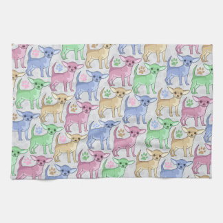 Chihuahua Lover Colorful Pattern Hand Towel