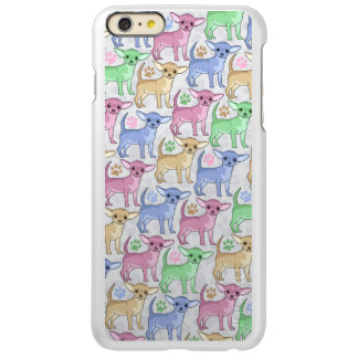 Chihuahua Lover Colorful Pattern Incipio Feather Shine iPhone 6 Plus Case
