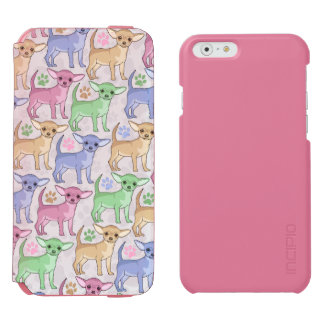 Chihuahua Lover Colorful Pattern iPhone 6/6s Wallet Case