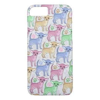 Chihuahua Lover Colorful Pattern iPhone 8/7 Case