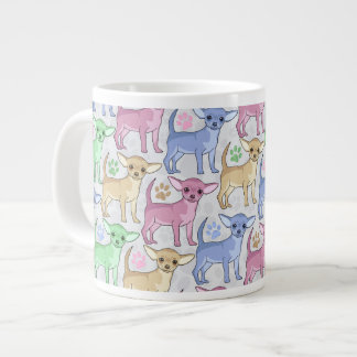 Chihuahua Lover Colorful Pattern Large Coffee Mug