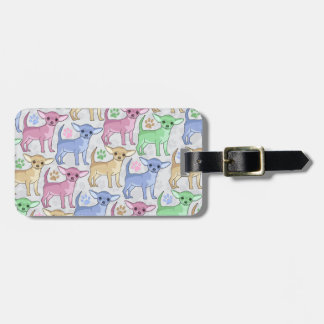 Chihuahua Lover Colorful Pattern Tags For Bags