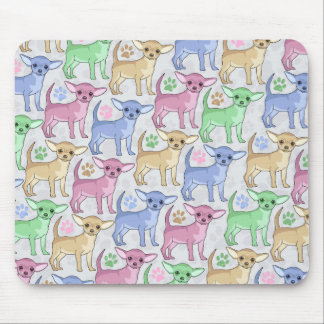 Chihuahua Lover Colorful Pattern Mouse Pad