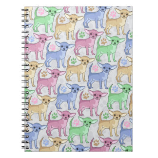 Chihuahua Lover Colorful Pattern Notebook