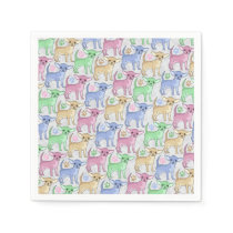 Chihuahua Lover Colorful Pattern Paper Napkin