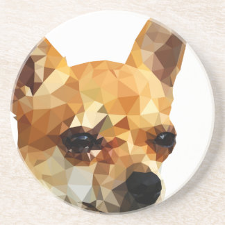 Chihuahua Low Poly Art Coaster