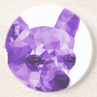 Chihuahua Low Poly Art in Purple Coaster