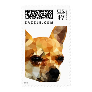 Chihuahua Low Poly Art Postage