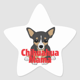Chihuahua Mama Black Tan Stickers