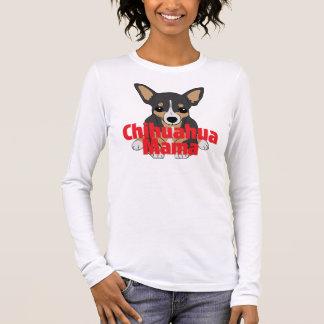 Chihuahua Mama Cute Black Tan Long Sleeve T-Shirt