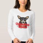 Chihuahua Mama Cute Black Tan Tee Shirt