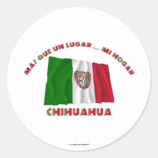 Chihuahua - Más Que un Lugar ... Mi Hogar Classic Round Sticker