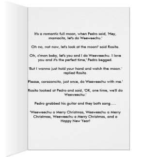 Chihuahua Merry Christmas Card and Poem
