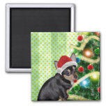 Chihuahua Merry Christmas Magnet 2 Inch Square Magnet