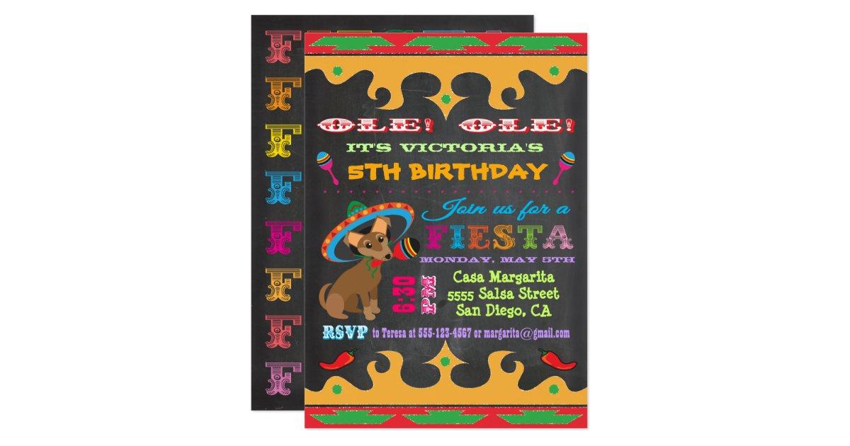 Chihuahua Mexican Fiesta Birthday Party Invitation | Zazzle.com