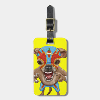 Chihuahua - Mexican wrestler Bag Tag
