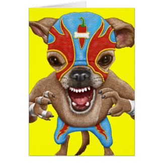 Chihuahua - Mexican wrestler Greeting Card