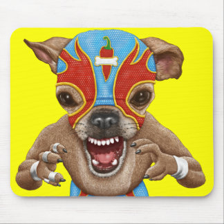 Chihuahua - Mexican wrestler Mouse Pad