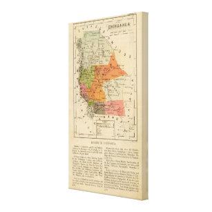 Colonia Lebaron Mexico Map.Chihuahua Mexico Canvas Art Prints Zazzle