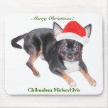 Chihuahua MickeyElvis Mousepad de Santa Tapetes De Raton