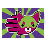 Hand shaped Chihuahua Mini Card