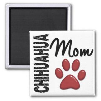Chihuahua Mom 2 2 Inch Square Magnet