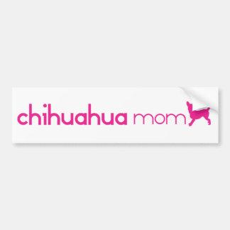 Chihuahua Mom Car Bumper Sticker