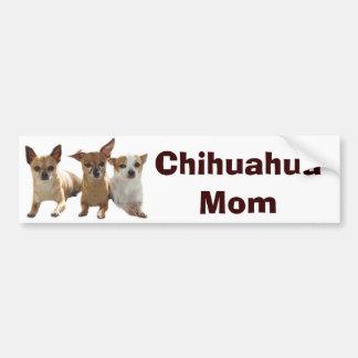 Chihuahua Mom Bumper Sticker Car Bumper Sticker