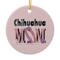 Chihuahua MOM Christmas Tree Ornaments