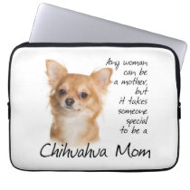 Chihuahua Mom Laptop Sleeve