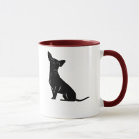 Chihuahua mug personalized with dog's name and paw