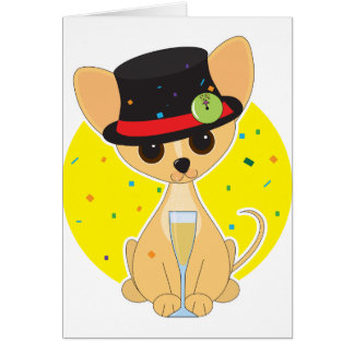 Chihuahua New Year Card