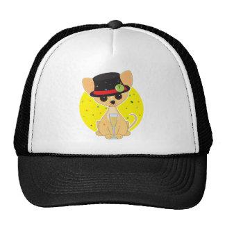 Chihuahua New Year Mesh Hat