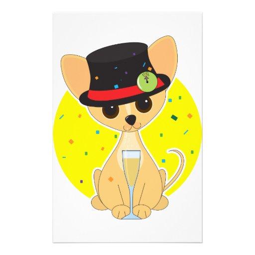 Chihuahua New Year Stationery
