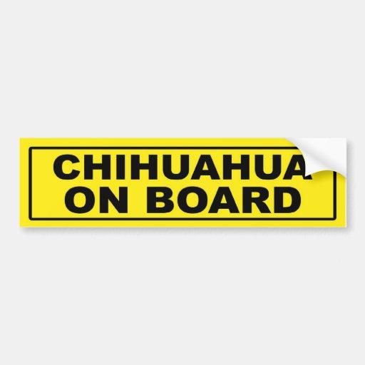 Chihuahua on Board Car Bumper Sticker