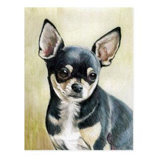 Chihuahua Original Art Postcard