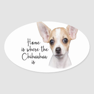 Chihuahua Oval Sticker