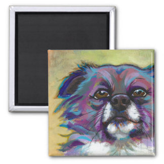 Chihuahua painting art adorable dog - The Optimist Refrigerator Magnets