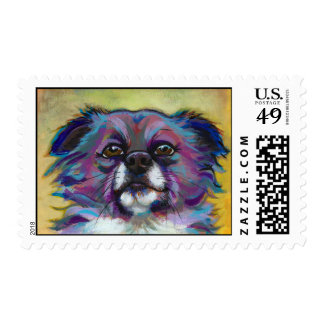 Chihuahua painting art adorable dog - The Optimist Postage Stamp
