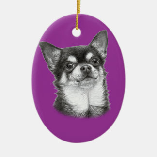 Chihuahua Painting Ceramic Ornament