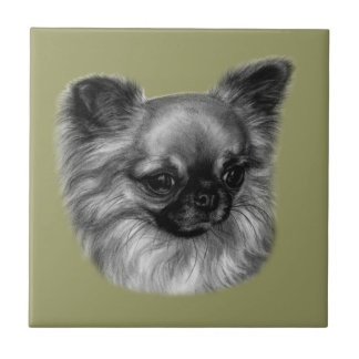 Chihuahua Painting Tile